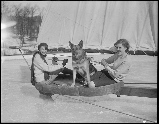 1929-02-04: Wellesley gets its first ice boat.