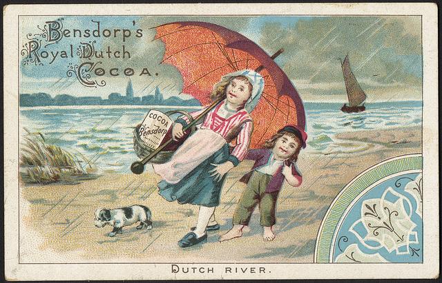 1870 - 1900: Bensdorp's Royal Dutch Cocoa. Dutch river.