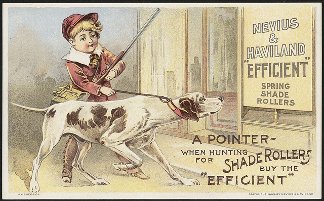 1870 - 1900: Nevius & Haviland 'Efficient' spring shad rollers - a pointer - when hunting for shade rollers buy the 'efficient'