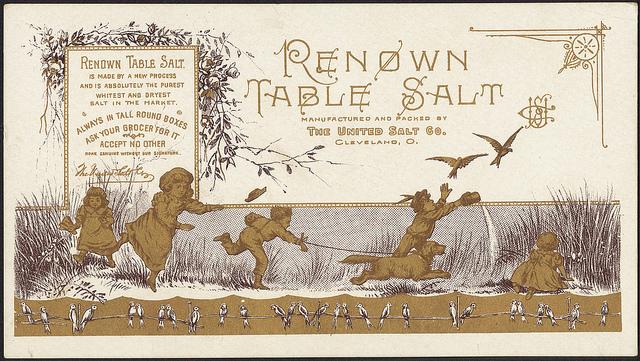 1870 - 1900: Renown table salt