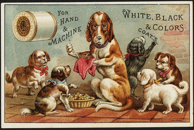 1870 - 1900: For hand & machine, white, black & colors, Coat's