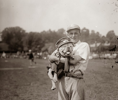 1917: The American medical staff's baseball team mascot, resplendent in a custom uniform. (Getty Images)