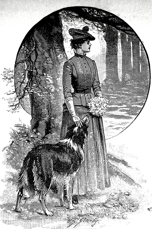 """""""They made a pretty picture standing together."""" Cassell's Family Magazine, 1887."""