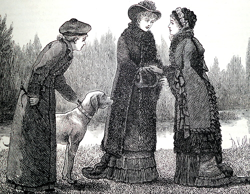 Cold Weather fashion, Cassell's Family Magazine, 1881.