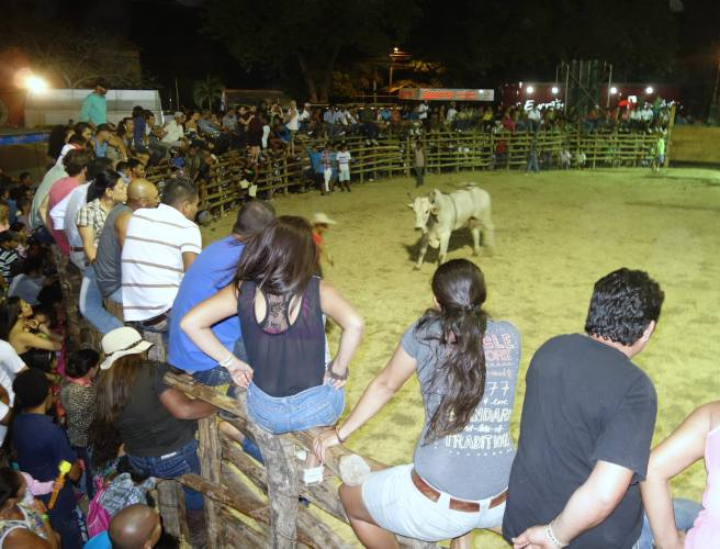 We also checked out a fiesta which featured bull riding!