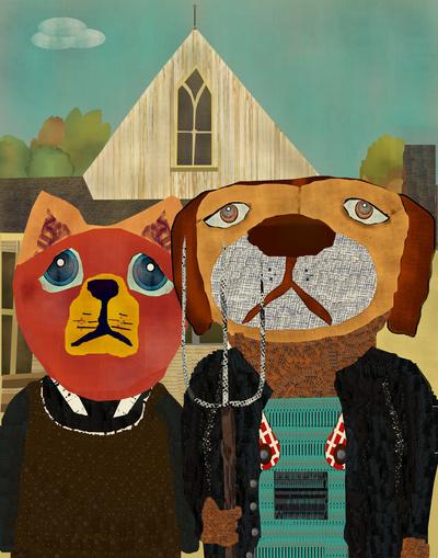 dog cat gothic