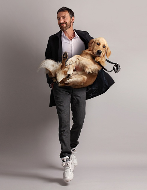Vincent Flouret and his dog Max © Vincent Flouret