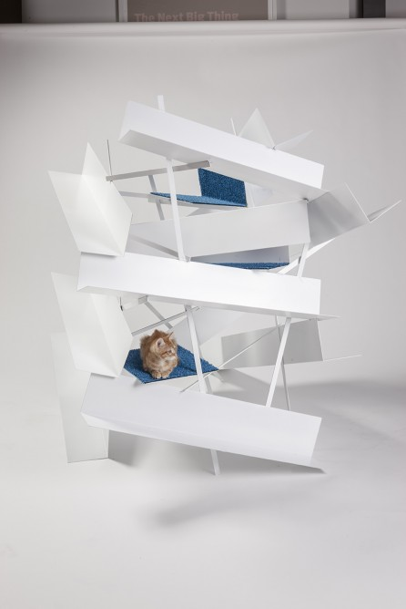 We're not sure what this is, by LEHRER ARCHITECTS, but the cat looks comfy at least (Photo: Grey Crawford)