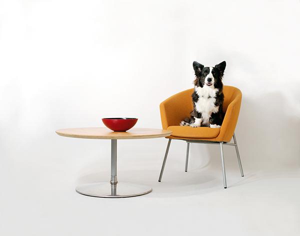 Scarlett, Megan Chair and Circle Coffee Table
