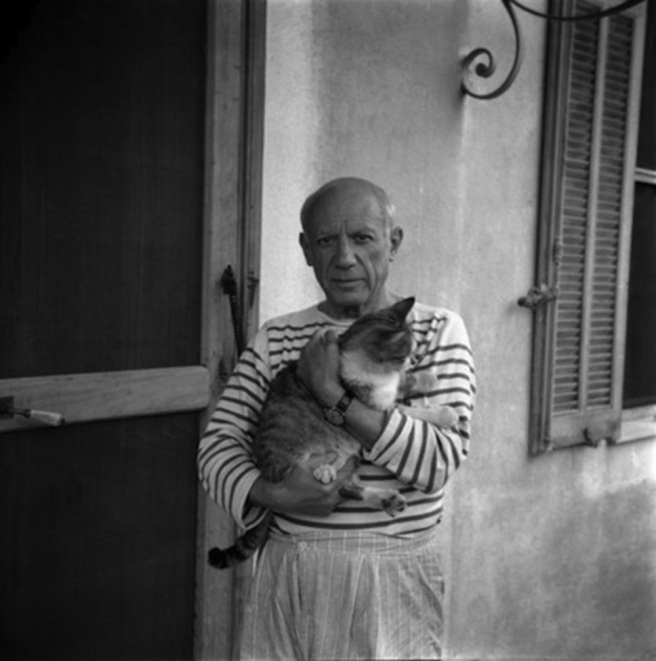Pablo Picasso / Photograph by Carlos Nadal, 1960; © Estate of Pablo Picasso / Artists Rights Society (ARS), New York