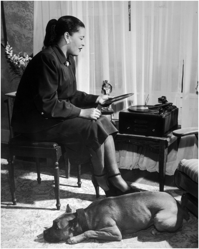 Billie Holiday and Mister, New York, NY